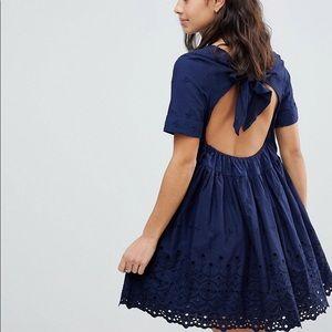 ASOS Broderie Smock Mini Dress